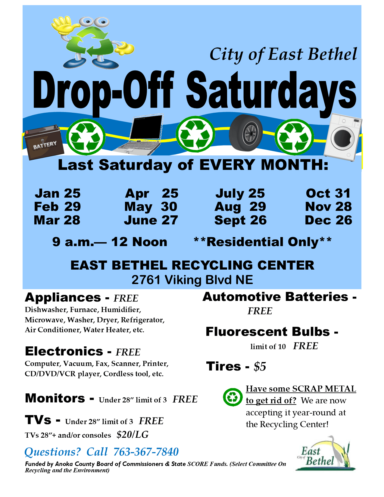 DropOff Saturday Flyer - Jan-Dec 2020